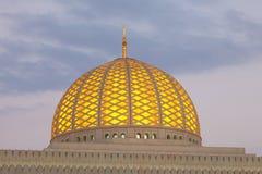 Cupola Uroczysty meczet w muszkacie, Oman Zdjęcia Stock