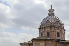 Cupola view. In Rome on a cloudy day stock images