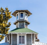 Cupola of Wood and Green Shingles Royalty Free Stock Photo