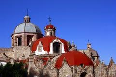 Cupolas. Of an ancient church of the city of morelia, in michoacan mexico Royalty Free Stock Photos