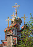 Cupolas of church Stock Photography