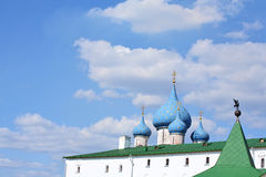 Cupolas and crosses. On the Russian church (Suzdal Royalty Free Stock Photography