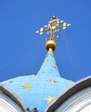 Cupolas and crosses. On the Russian church (Suzdal Stock Image