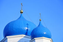 Cupolas and crosses Stock Images