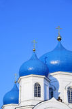 Cupolas and crosses. On the Russian church (Suzdal Stock Photography