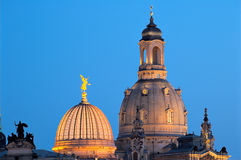 Cupolas of Dresden Royalty Free Stock Images