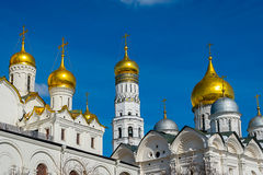 Cupolas in the Kremlin Stock Photography