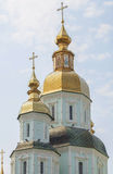 Cupolas of  Peter and Paul church in Kharkov. Royalty Free Stock Image