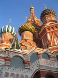 Cupolas of Pokrovsky church. Red Square, Moscow Royalty Free Stock Image