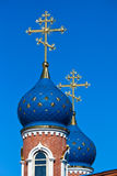 Cupolas of Russian church Royalty Free Stock Photography