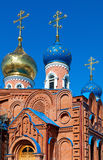 Cupolas of Russian orthodox church Stock Image