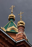 Cupolas of Russian orthodox church Stock Photo