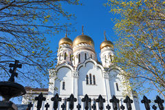 Cupolas of Russian orthodox church Royalty Free Stock Images