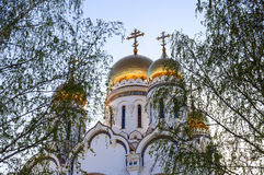 Cupolas of Russian orthodox church Stock Photography