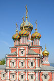 Cupolas of russian orthodox church Stock Photos