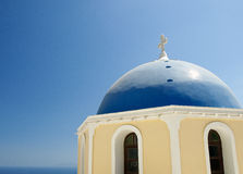 Cupolas from Santorini, Greece. View on a church cupolas of Fira, Santorini, Greece Royalty Free Stock Photo