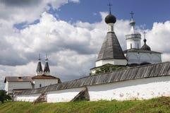 Cupole del monastero di Ferapontov Fotografia Stock