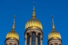 Cupole della chiesa Fotografia Stock