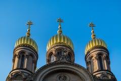 Cupole della chiesa Immagine Stock