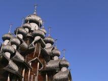Cupole della chiesa di legno Immagine Stock Libera da Diritti