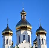 Cupole della chiesa russa antica fotografie stock