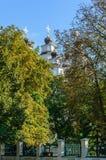 Cupole della chiesa ucraina ortodossa nella zona del parco della città Immagine Stock Libera da Diritti