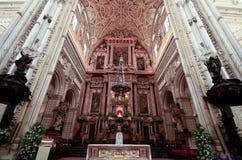Cupole della Moschea-cattedrale a Cordova La Spagna Andalusia immagini stock libere da diritti