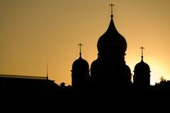 Cupole delle cattedrali del basilico del san, Mosca fotografia stock libera da diritti