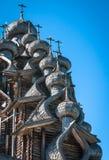 Cupole di legno scolpite in Kizhi, Carelia Fotografia Stock Libera da Diritti