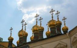 Cupole di più alta cattedrale del salvatore Immagini Stock Libere da Diritti