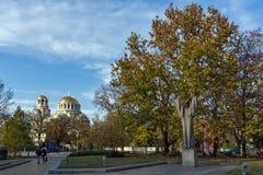 Cupole dorate del san Alexander Nevski della cattedrale a Sofia, Bulgaria Fotografie Stock Libere da Diritti