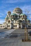 Cupole dorate del san Alexander Nevski della cattedrale a Sofia, Bulgaria Immagini Stock