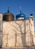 Cupole e segnalatore acustico della cattedrale di Nikolsky Fotografia Stock Libera da Diritti