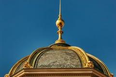 Cupole för detaljer Prague för nationellt museum guld- royaltyfri bild