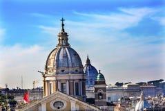 Cupole Vaticano Roma Italia delle chiese Immagine Stock Libera da Diritti