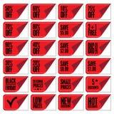Cupones de la venta Imagen de archivo libre de regalías