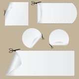 Cupones del corte Imagen de archivo libre de regalías