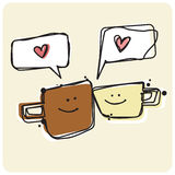 Cuppa Love spark Royalty Free Stock Images