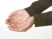 Cupped hands Royalty Free Stock Image