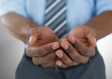 Cupped hands Royalty Free Stock Images