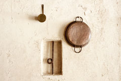 Cupper decorative pans Stock Photos