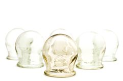 Cupping glass on white Royalty Free Stock Photography