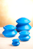 Cupping rubber glass Stock Photo