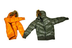 Cupple down jacket Royalty Free Stock Image