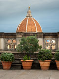 Cuppola di Santa Maria del Firoe in Firenze. The dome of Florence as seen from the Uffizi gallery Stock Photo