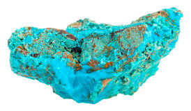 Cupriferous ψαμμίτης στον μπλε πολύτιμο λίθο Chrysocolla Στοκ Φωτογραφίες