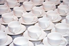 Cups. Coffee cups, a lot of. Restaurant illustration Stock Photo