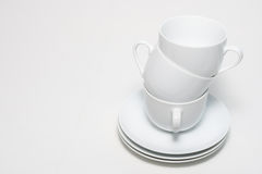 Cups. Stacked cups on a white background Stock Images