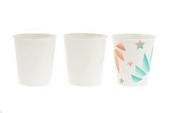 cups avfallspapper royaltyfria bilder