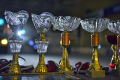 Cups for awarding winners Royalty Free Stock Images